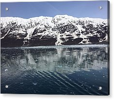 Reflections In Icy Point Alaska Acrylic Print