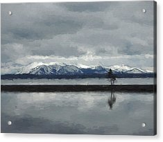 Reflections In Lake Yellowstone Acrylic Print