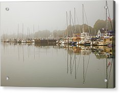Reflections In The Fog Acrylic Print by Karol Livote