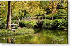 Acrylic Print featuring the photograph Reflections In The Japanese Garden by Iris Greenwell