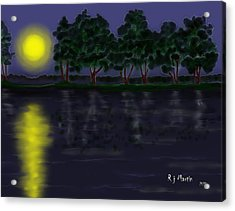 Reflections In The Moonlight Acrylic Print