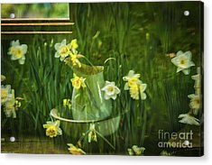Reflections In The Window Acrylic Print