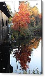 Reflections New Hampshire Acrylic Print by Sue Mayor