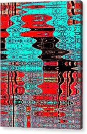 Reflections Number 1 Acrylic Print by Teodoro De La Santa