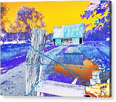 Reflections Of An Old Barn Abstract Acrylic Print