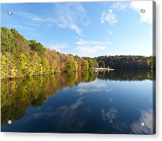 Reflections Of Autumn Acrylic Print by Donald C Morgan