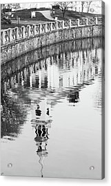 Reflections Of Church 2 Acrylic Print by Karol Livote