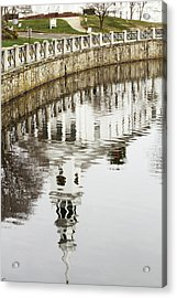 Reflections Of Church Acrylic Print by Karol Livote