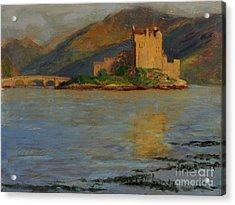 Reflections Of Eilean Donan Acrylic Print by Don Ellis
