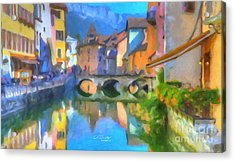Reflections Of Eze Acrylic Print