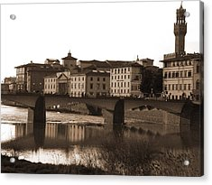 Reflections Of Florence Acrylic Print
