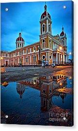 Reflections Of Granada, Nicaragua  Acrylic Print