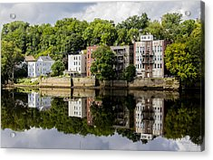 Reflections Of Haverhill On The Merrimack River Acrylic Print
