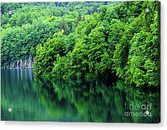 Reflections Of Plitvice, Plitvice Lakes National Park, Croatia Acrylic Print