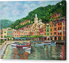 Reflections Of Portofino Acrylic Print