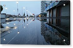 Reflections Of The Boardwalk Acrylic Print
