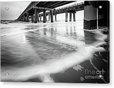Reflections Of The Chesapeake Bay Bridge Tunnel Acrylic Print by Lisa McStamp