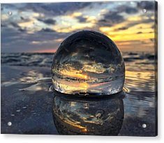 Reflections Of The Crystal Ball Acrylic Print