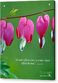 Reflections Of The Heart Acrylic Print by Diane E Berry