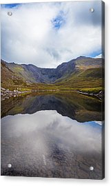 Reflections Of The Macgillycuddy's Reeks In Lough Eagher Acrylic Print by Semmick Photo