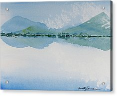 Reflections Of The Skies And Mountains Surrounding Bathurst Harbour Acrylic Print