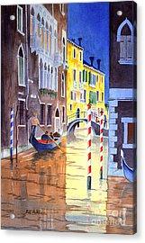 Reflections Of Venice Italy Acrylic Print by Bill Holkham