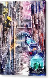Reflections Of Venice Acrylic Print by Shirley Stalter