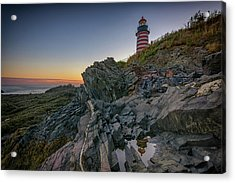 Reflections Of West Quoddy Head Acrylic Print