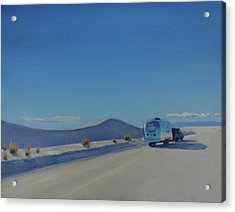 Reflections Of White Sands Acrylic Print