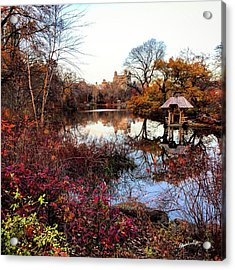 Acrylic Print featuring the photograph Reflections On A Winter Day - Central Park by Madeline Ellis