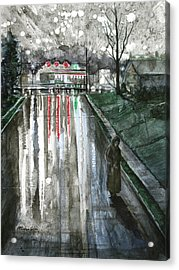 Reflections On Alone Acrylic Print by Patricia Allingham Carlson