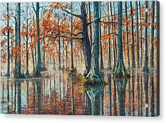 Acrylic Print featuring the painting Reflections On Autumn by Bill Jackson