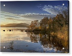 Reflections On Lough Cullin Acrylic Print by Frank Fullard