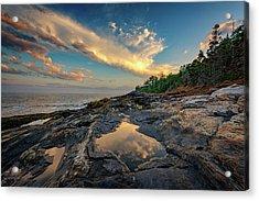 Reflections On Muscongus Bay Acrylic Print