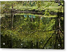 Reflections On Sitting Acrylic Print