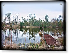 Reflections On The Lake Acrylic Print by Bill Perry