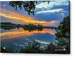 Reflections  On The Snake River Acrylic Print