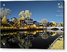 Reflections On Wesley Lake Acrylic Print