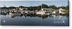 Reflections On Yarmouth Harbor Acrylic Print by David Bishop