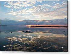 Reflections Over Back Bay Acrylic Print