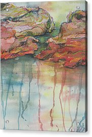 Reflections Acrylic Print by Sandy Tracey