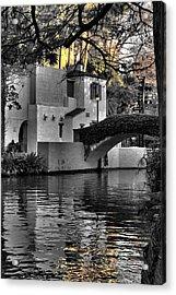 Reflections Under The Bridge Acrylic Print by Greg Sharpe