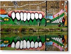 Reflective Canal 13 Acrylic Print by Jez C Self