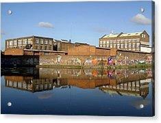 Reflective Canal 3 Acrylic Print by Jez C Self