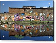 Reflective Canal 5 Acrylic Print by Jez C Self