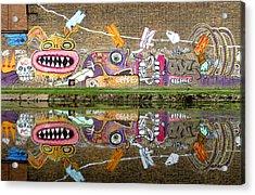 Reflective Canal 8 Acrylic Print by Jez C Self