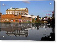 Reflective Canal Acrylic Print by Jez C Self