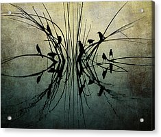 Reflective Grunge Acrylic Print