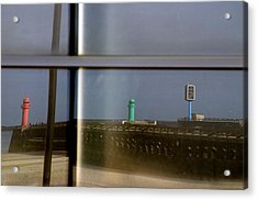 Reflective Lighthouses Acrylic Print by Jez C Self