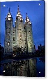 Reflective Temple Acrylic Print
